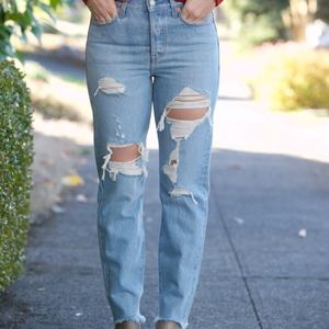 "levi's wedgie fit jeans | ""collateral damage"" 